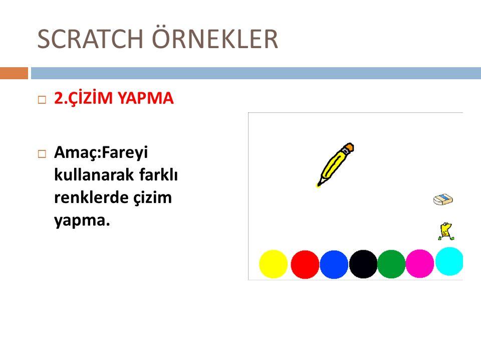SCRATCH ÖRNEKLER 2.ÇİZİM YAPMA