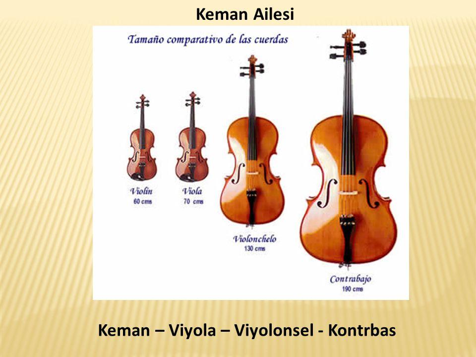 Keman Ailesi Keman – Viyola – Viyolonsel - Kontrbas