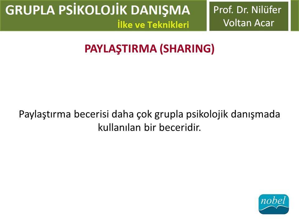 PAYLAŞTIRMA (SHARING)