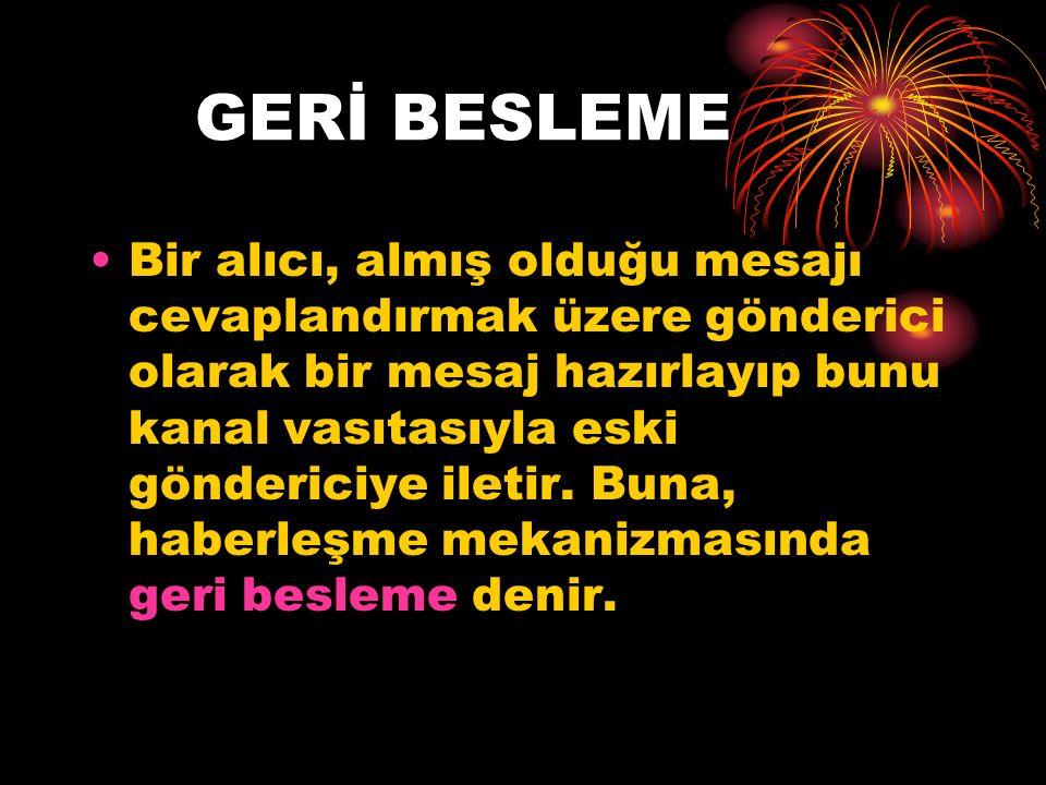 GERİ BESLEME