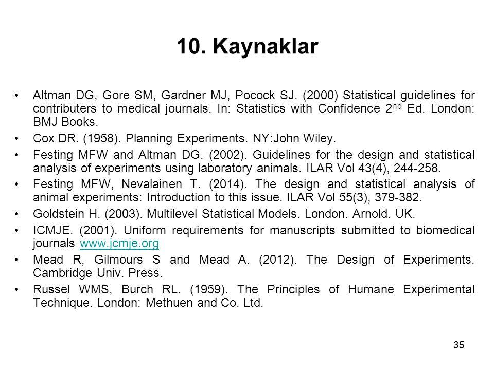 10. Kaynaklar
