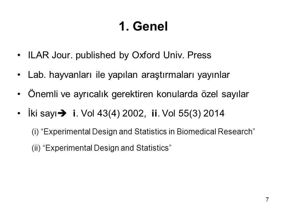 1. Genel ILAR Jour. published by Oxford Univ. Press