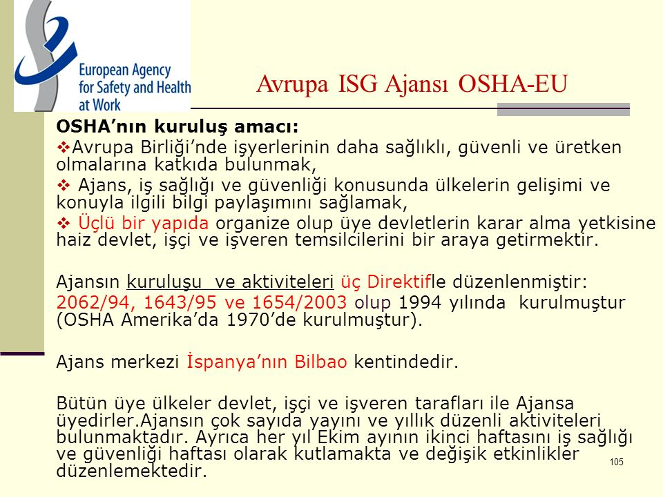 Avrupa ISG Ajansı OSHA-EU