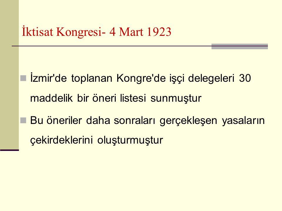 İktisat Kongresi- 4 Mart 1923