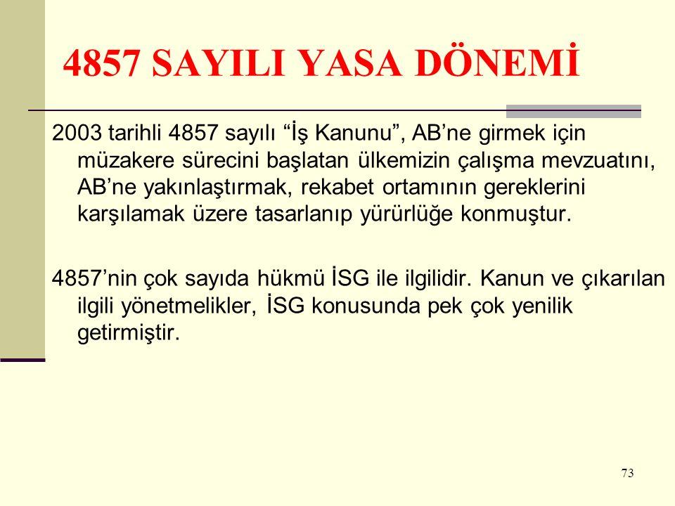 4857 SAYILI YASA DÖNEMİ