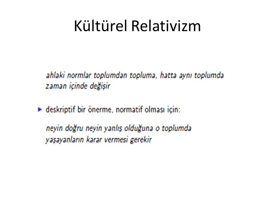 Kültürel Relativizm