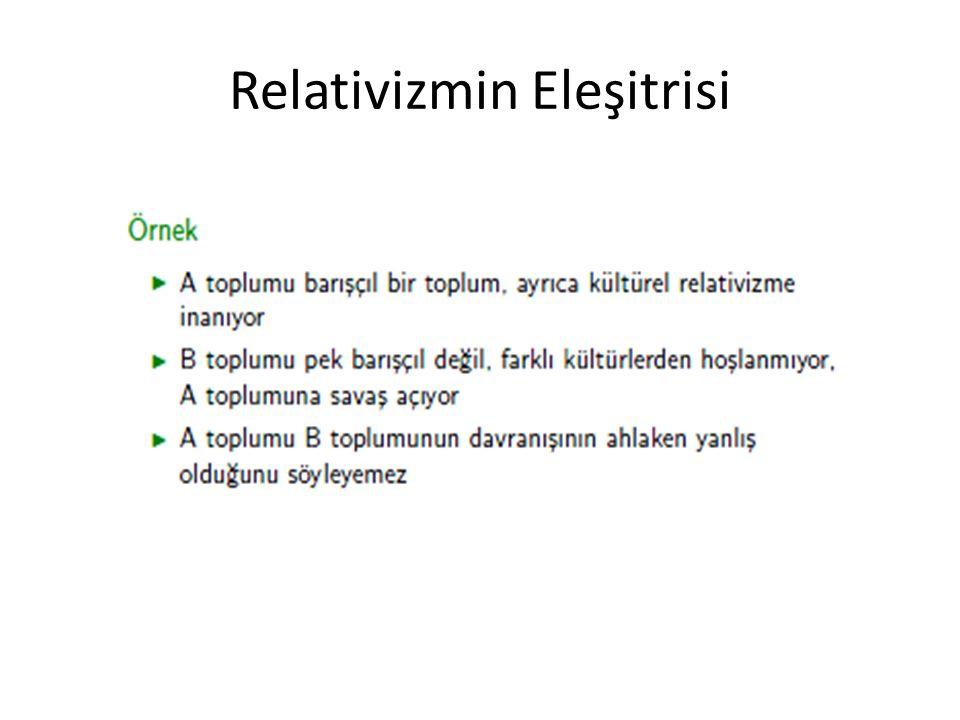 Relativizmin Eleşitrisi