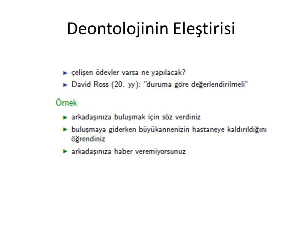Deontolojinin Eleştirisi