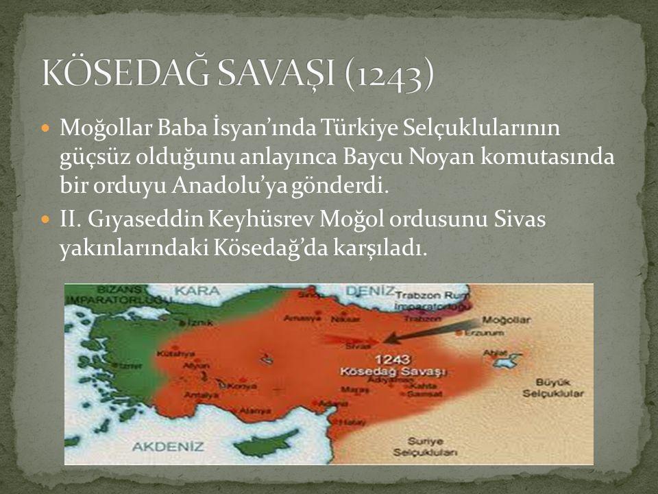KÖSEDAĞ SAVAŞI (1243)