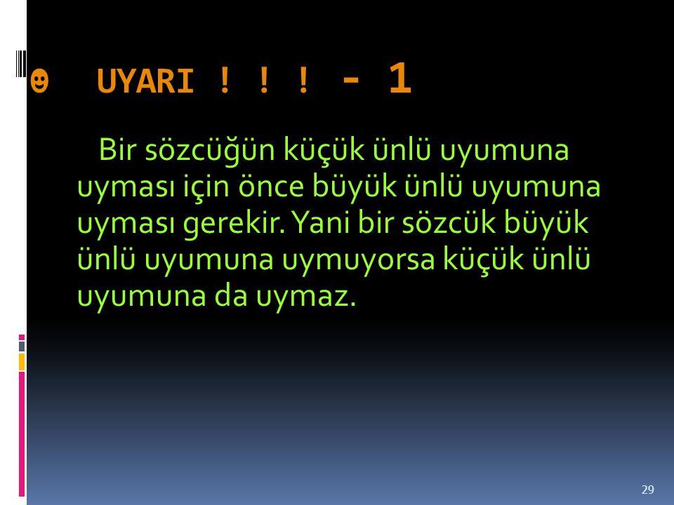 ☻ UYARI ! ! ! - 1