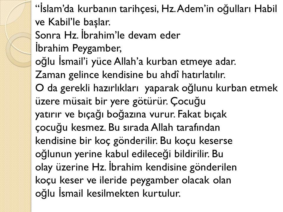 İslam'da kurbanın tarihçesi, Hz