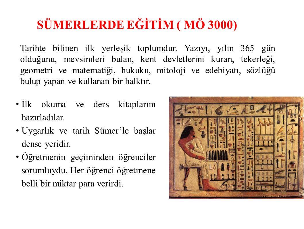 SÜMERLERDE EĞİTİM ( MÖ 3000)