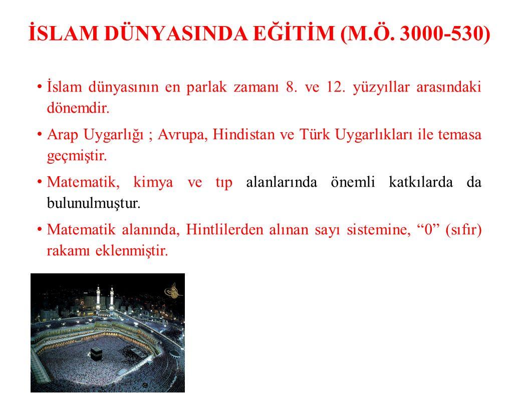 İSLAM DÜNYASINDA EĞİTİM (M.Ö. 3000-530)