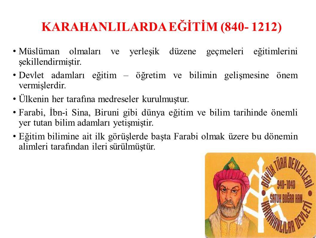 KARAHANLILARDA EĞİTİM (840- 1212)