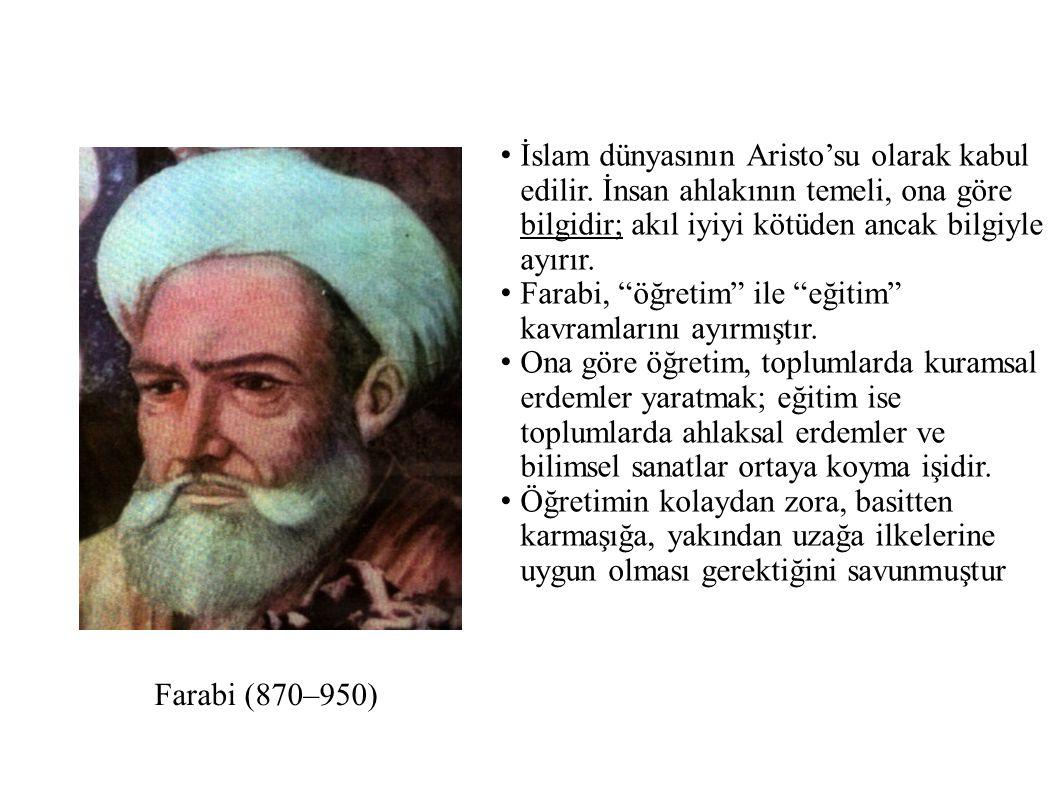 İslam dünyasının Aristo'su olarak kabul edilir