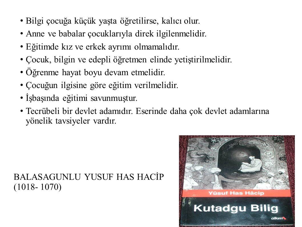 BALASAGUNLU YUSUF HAS HACİP (1018- 1070)