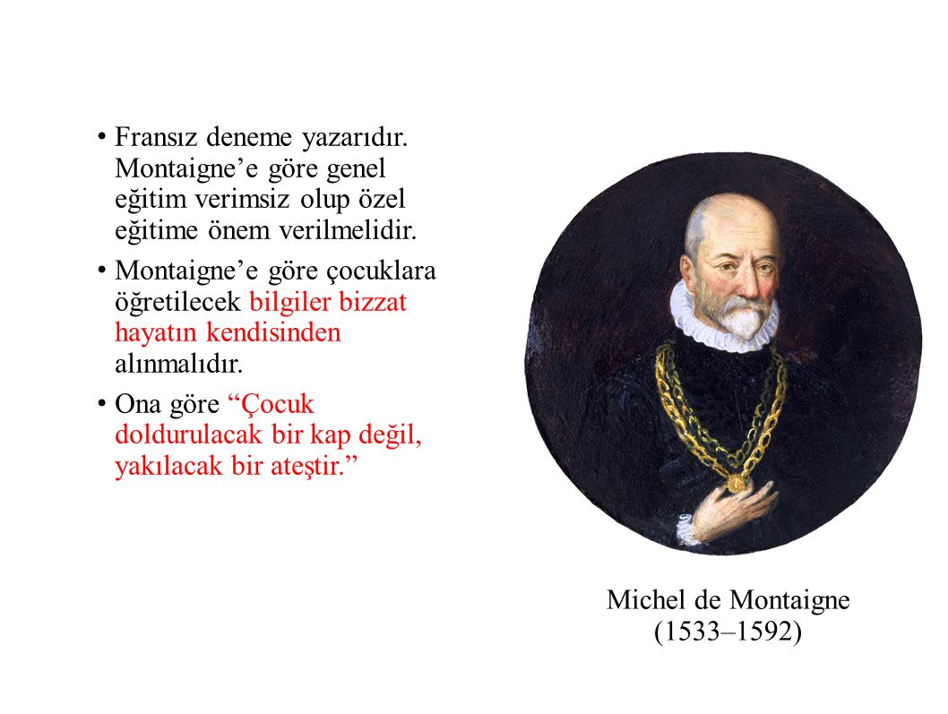Michel de Montaigne (1533–1592)