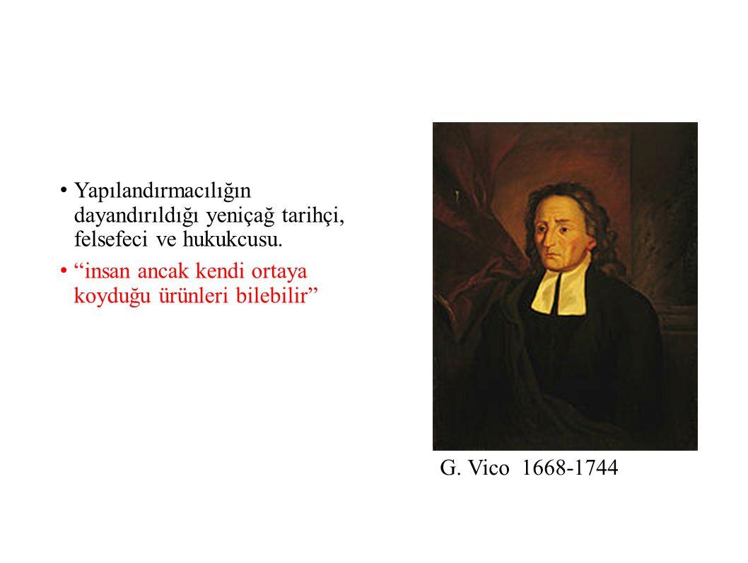 Yapılandırmacılığın dayandırıldığı yeniçağ tarihçi, felsefeci ve hukukcusu.