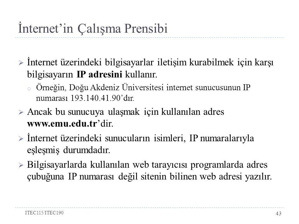 İnternet'in Çalışma Prensibi