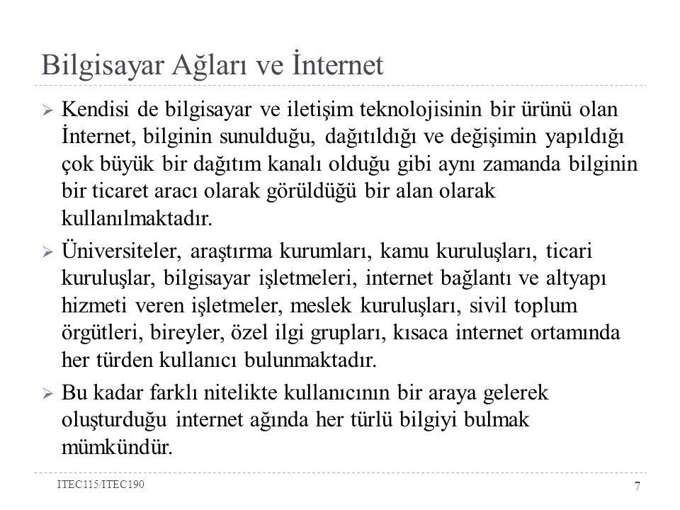 Bilgisayar Ağları ve İnternet