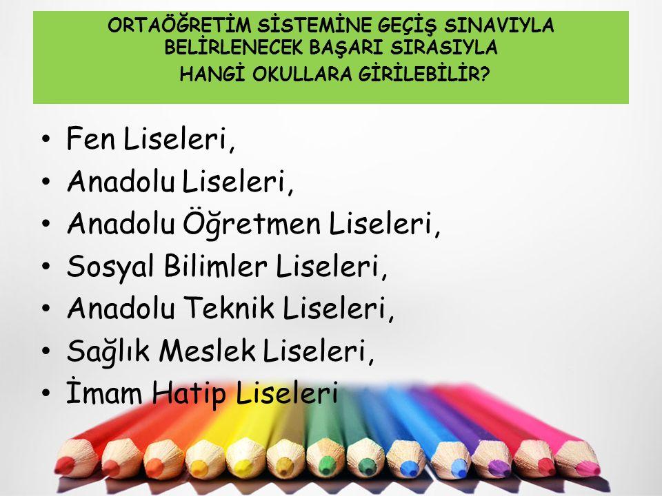 Anadolu Öğretmen Liseleri, Sosyal Bilimler Liseleri,