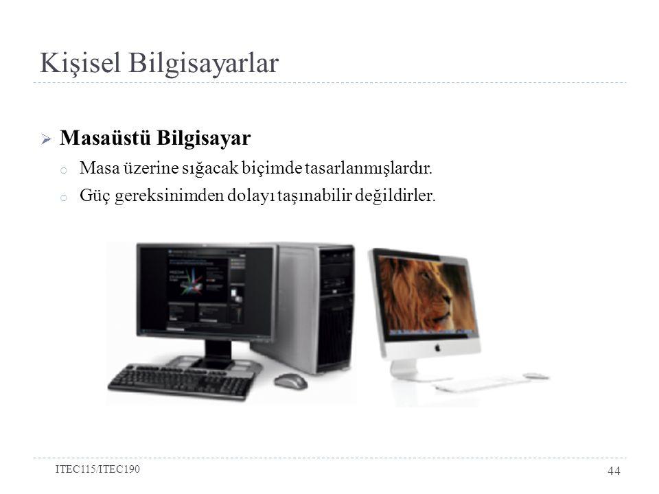 Kişisel Bilgisayarlar