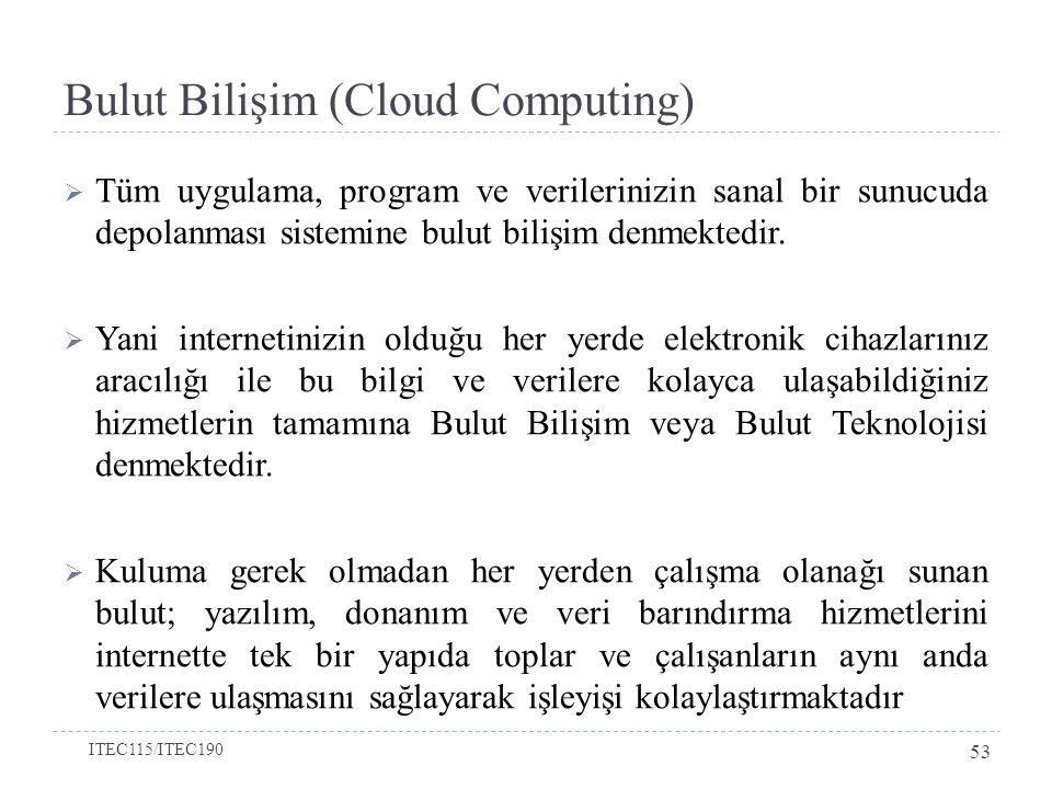 Bulut Bilişim (Cloud Computing)