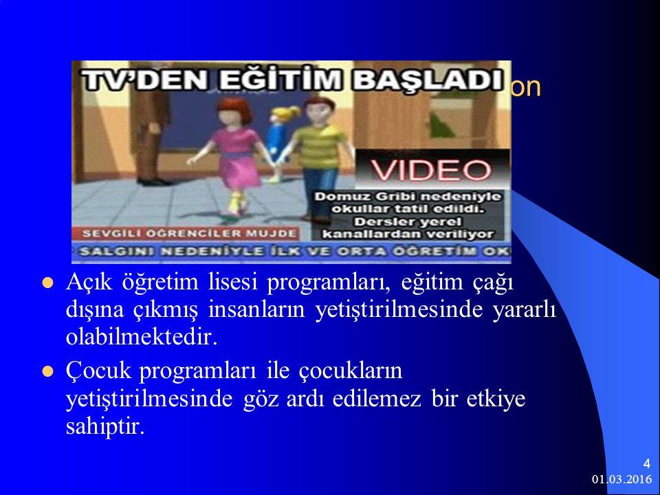 Eğitim Aracı Olarak Televizyon