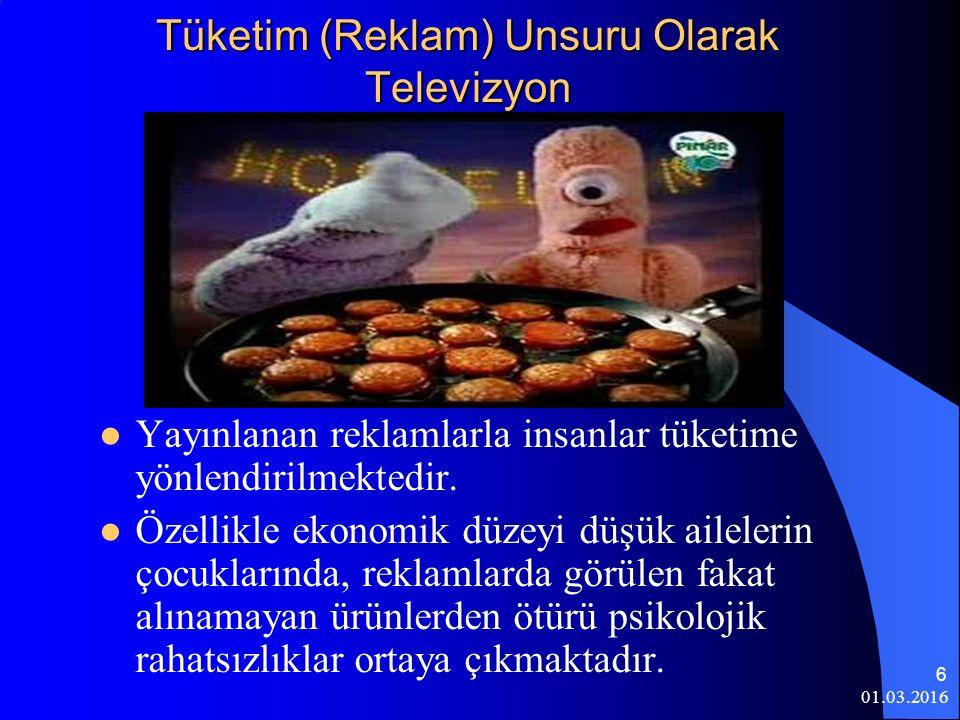 Tüketim (Reklam) Unsuru Olarak Televizyon