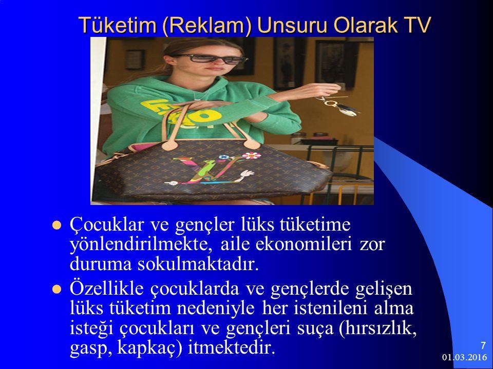 Tüketim (Reklam) Unsuru Olarak TV