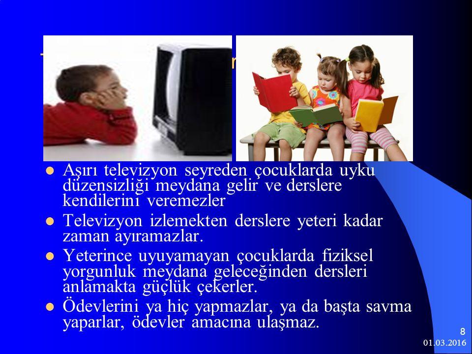 Televizyonun Derslere Yönelik Etkisi