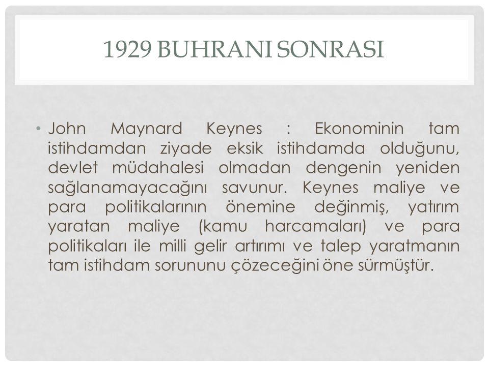 1929 BUHRANI SONRASI