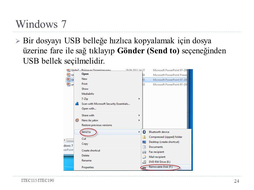 Windows 7 Bölüm 3-Denetim Masası Simgeleri
