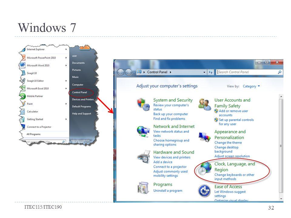 Windows 7 Bölüm 2-Windows 7'yi Kişiselleştirmek ITEC115/ITEC190