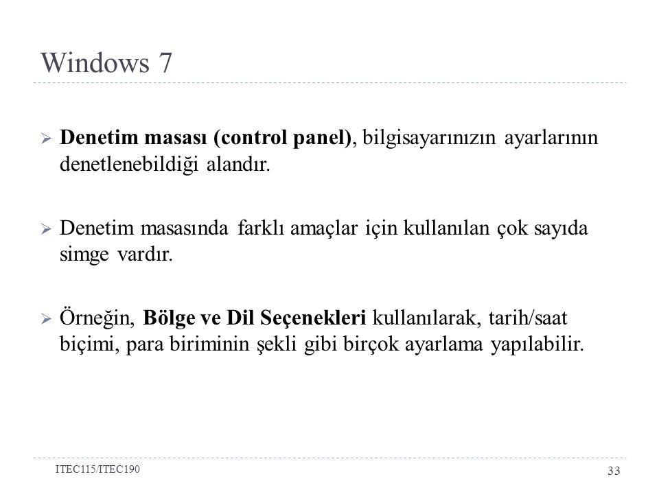 Windows 7 Bölüm 2-Windows 7'yi Kişiselleştirmek