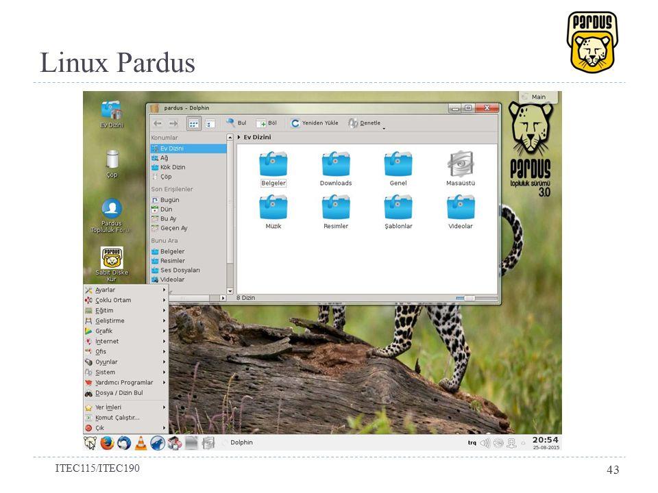 Linux Pardus ITEC115/ITEC190