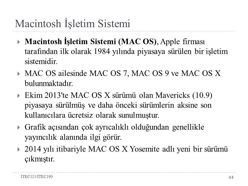 Macintosh İşletim Sistemi