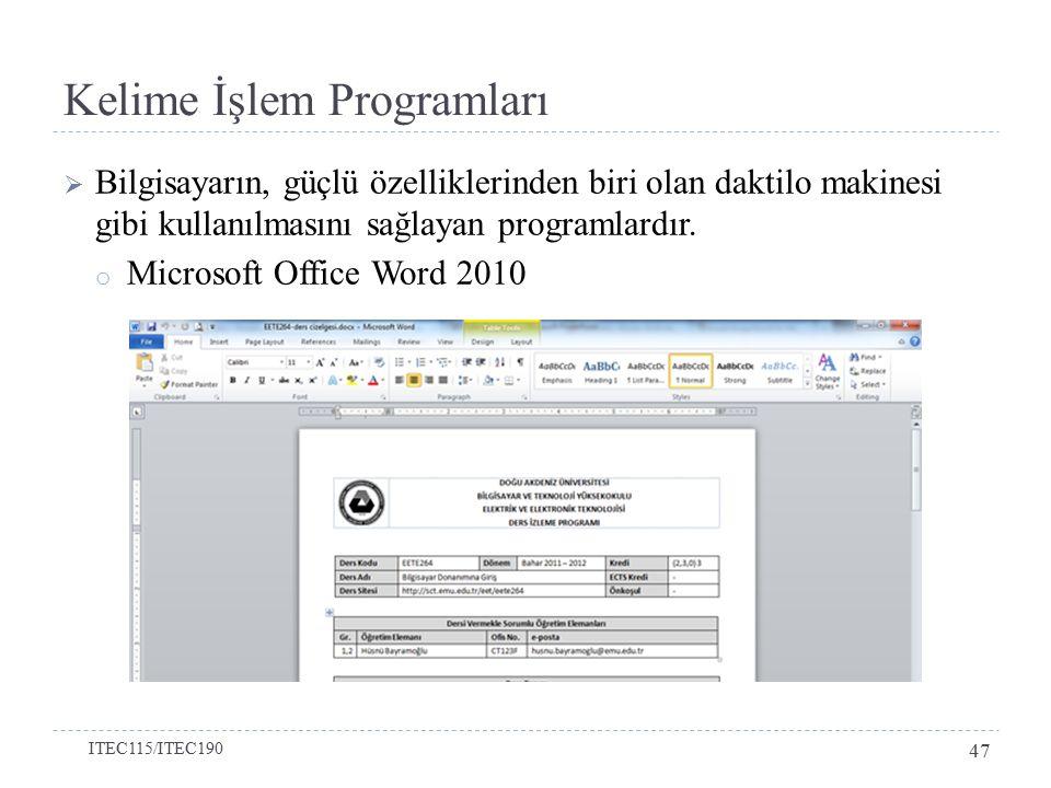 Kelime İşlem Programları