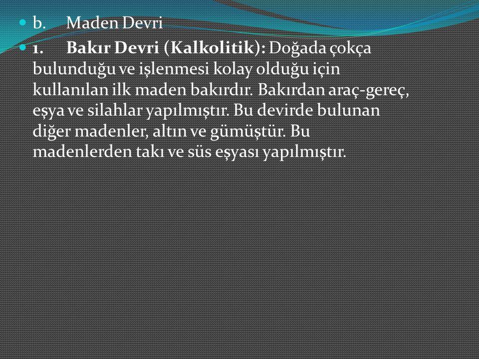 b. Maden Devri