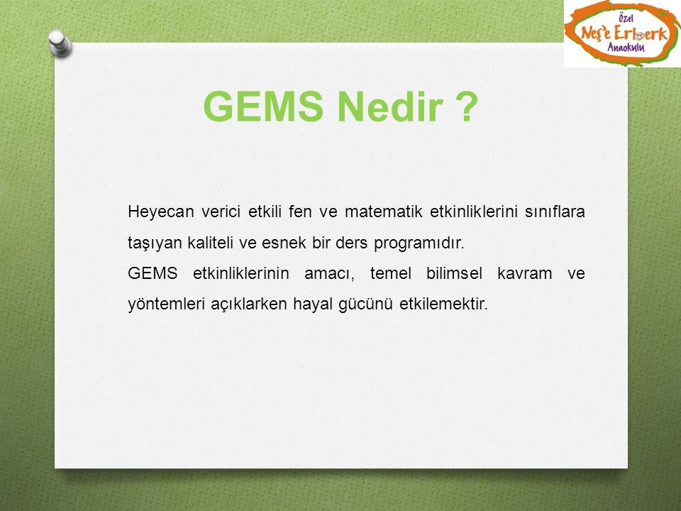 GEMS Nedir Heyecan verici etkili fen ve matematik etkinliklerini sınıflara taşıyan kaliteli ve esnek bir ders programıdır.