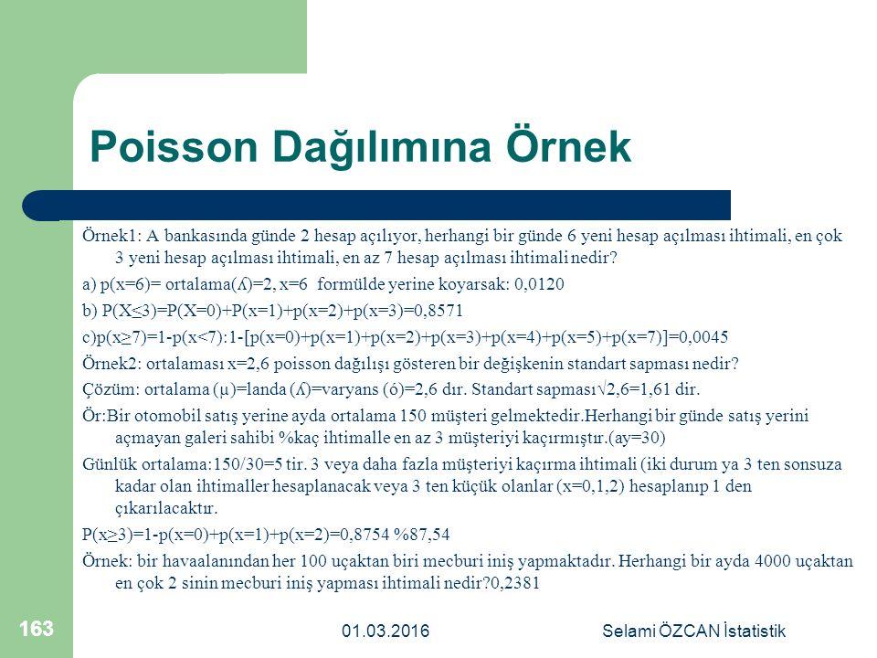 Poisson Dağılımına Örnek