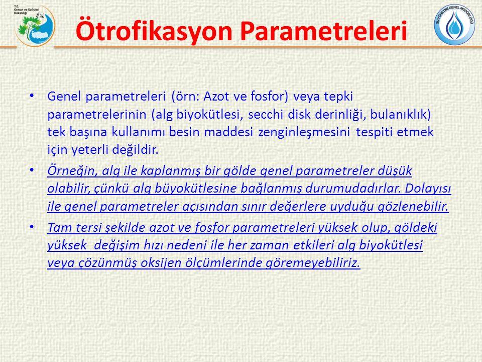 Ötrofikasyon Parametreleri