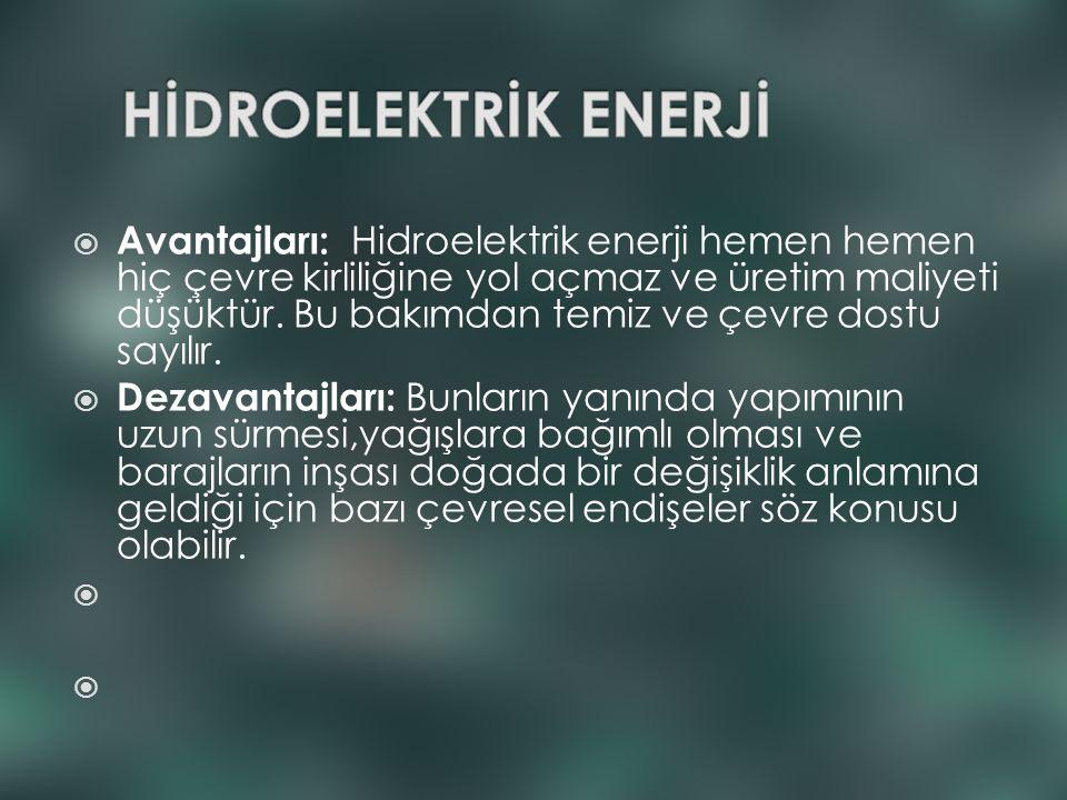 HİDROELEKTRİK ENERJİ