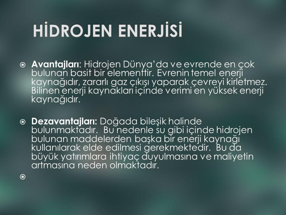 HİDROJEN ENERJİSİ