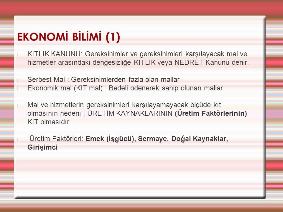 EKONOMİ BİLİMİ (1)