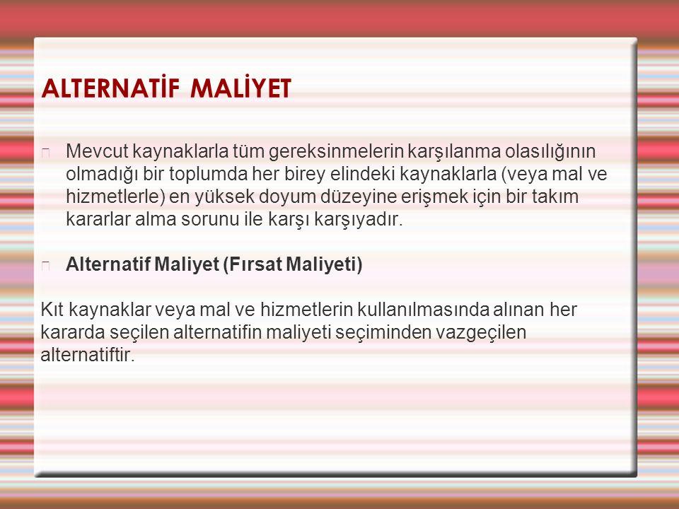 ALTERNATİF MALİYET