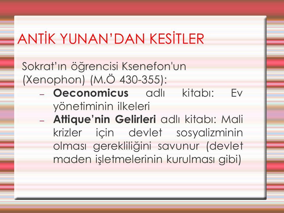 ANTİK YUNAN'DAN KESİTLER