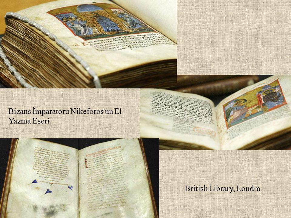 Bizans İmparatoru Nikeforos un El Yazma Eseri