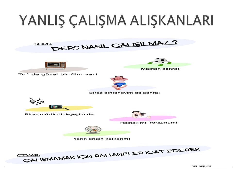 YANLIŞ ÇALIŞMA ALIŞKANLARI