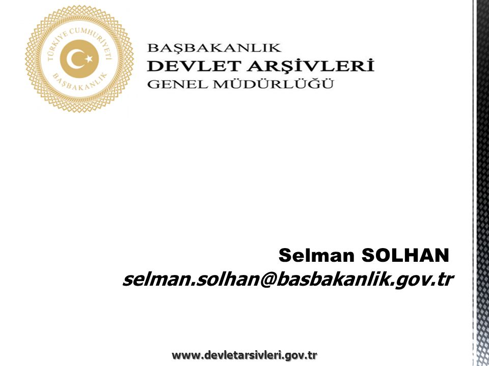 Selman SOLHAN selman.solhan@basbakanlik.gov.tr